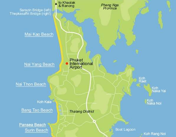 Location Naiyang Beach Phuket Island