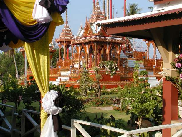 obsequies for dead abbot of wat naiyang, phuket