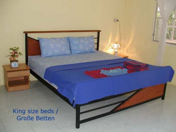 eco guesthouse, naiyang, phuket, king size beds