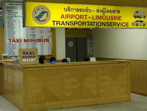 Taxi stand at Phuket Airport