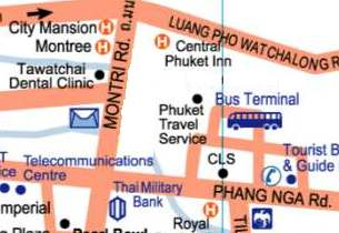 location of bus terminal Phuket town